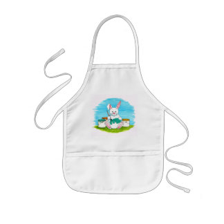 Bunny Dying Easter Eggs Apron