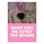 Bunny ears are SO hot this season!... Greeting Cards