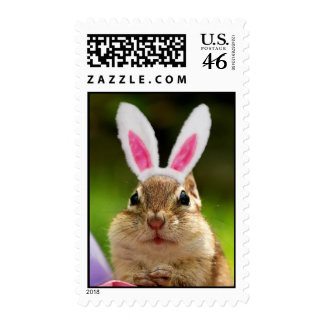 Bunny Ears Chipmunk Stamps