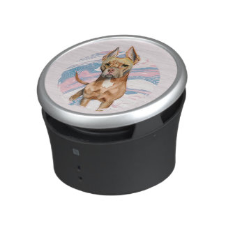 """""""Bunny Ears"""" Pit Bull Dog Watercolor Painting Speaker"""