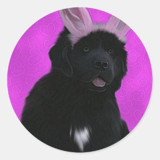 Bunny ears round sticker