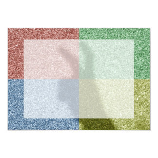 Bunny ears shadow four color grid 5x7 paper invitation card