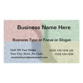 Bunny ears shadow four color grid Double-Sided standard business cards (Pack of 100)