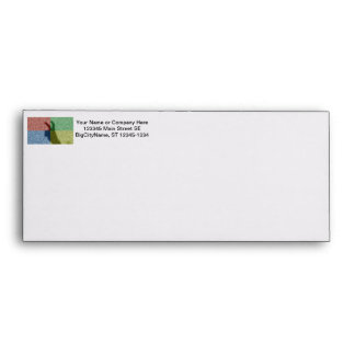 Bunny ears shadow four color grid envelope