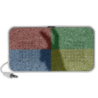 Bunny ears shadow four color grid laptop speaker