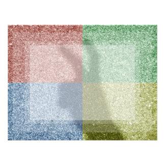 Bunny ears shadow four color grid letterhead