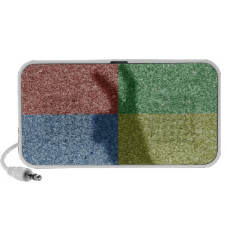 Bunny ears shadow four color grid iPod speakers