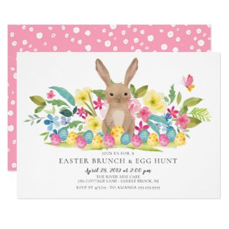 Bunny Easter Brunch & Egg Hunt Invitation
