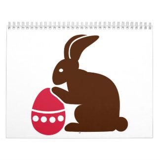 Bunny easter egg calendar