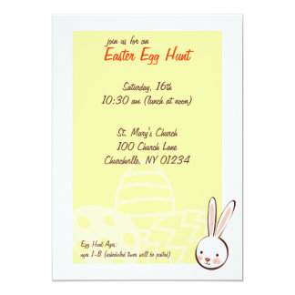 Bunny Easter Egg Hunt Invitations