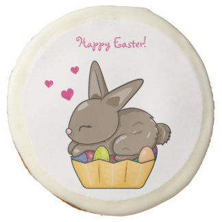 BUNNY EASTER EGG SUGAR COOKIE