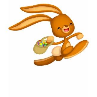 Bunny Easter on the Loose!! cartoon Kids T-shirt shirt
