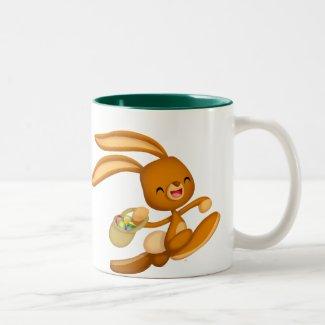 Bunny Easter on the Loose!! cartoon mug mug