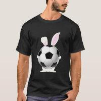 Bunny Easter Soccer Ball T-Shirt Easter Sports