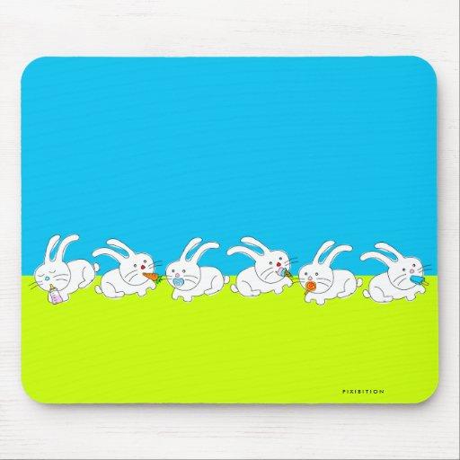 Bunny Eat Food Mousepad 2