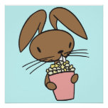 Bunny Eating Popcorn poster