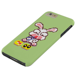 Bunny Eating Sushi Pixel Art Phone Case
