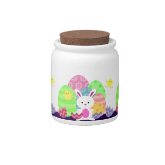 Bunny Eggs and Chicks Candy Jar