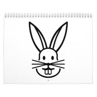 Bunny face calendar