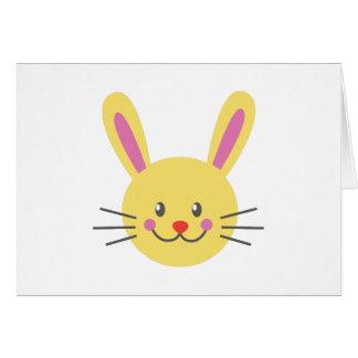 Bunny Face Greeting Card