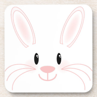 Bunny Face Beverage Coasters