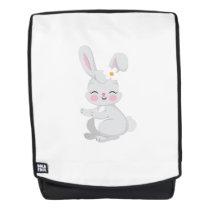 Bunny Face Cute Easter Gift Kids Girls Backpack