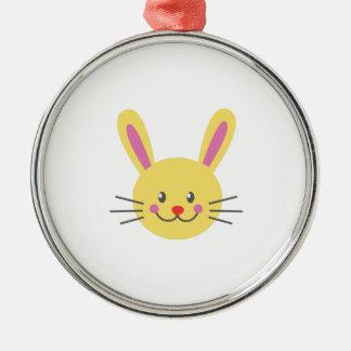 Bunny Face Christmas Ornaments
