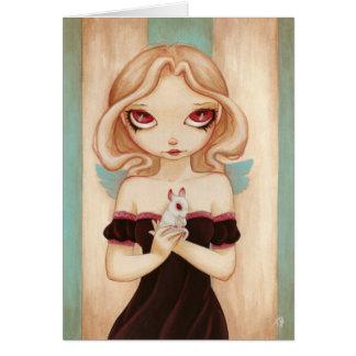 Bunny - Fairy albino rabbit greeting card