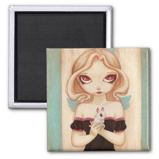 Bunny - Fairy albino rabbit magnet
