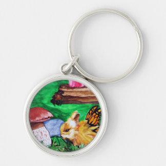 Bunny Fairy Watercolor Premium or Basic Keychain 3