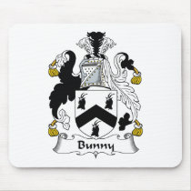 Bunny Family Crest Mousepad