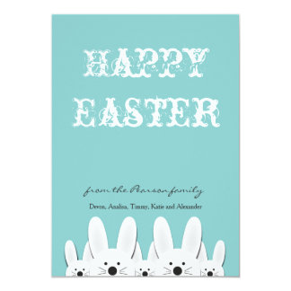 Bunny Family Easter Card