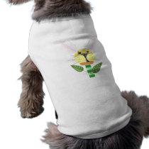 Bunny Flower No Background Dog T-Shirt