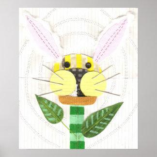 Bunny Flower Poster