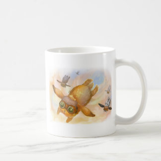 Bunny fly fly fly coffee mug