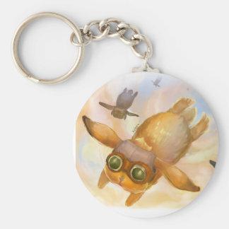 Bunny fly fly fly keychain