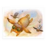 Bunny fly fly fly postcard