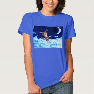 Bunny Flying At Night T-shirt