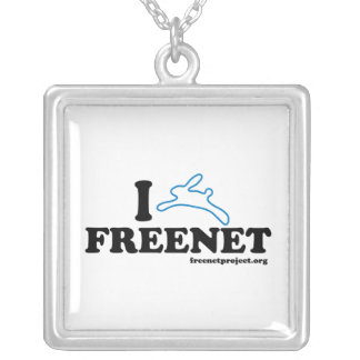 Bunny Freenet Square Pendant Necklace