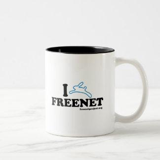 Bunny Freenet Two-Tone Coffee Mug