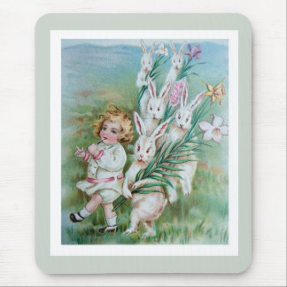 Bunny Frolic Mouse Pad