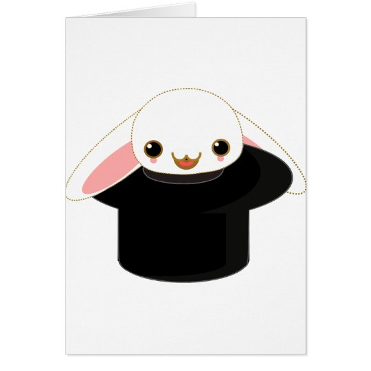 bunny from the hat card