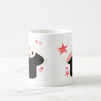 bunny from the hat classic white coffee mug