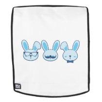 Bunny Funny Easter Kids Women Men Backpack