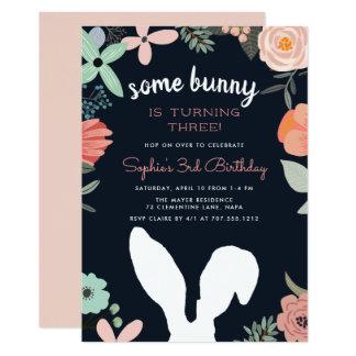 Bunny Garden   Spring Birthday Party Invitation