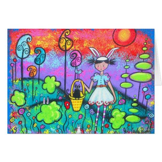 Bunny-Girl Arrives With Spring Card