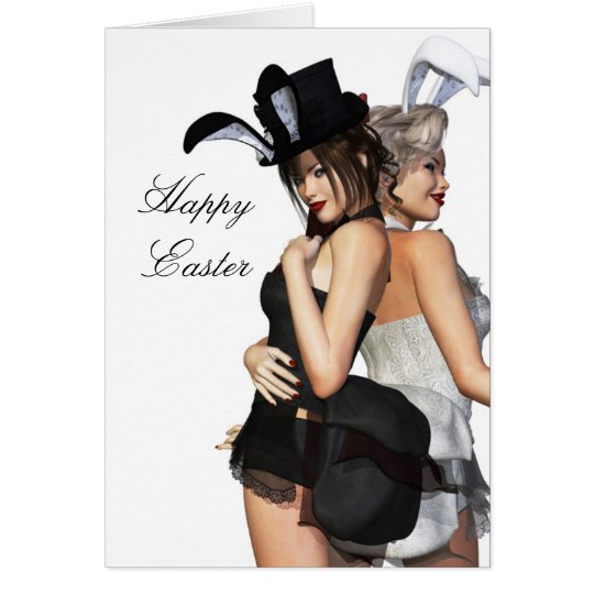 Bunny Girls Easter Card