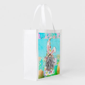 Bunny Gnome Grocery Bag