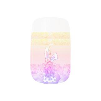 Bunny Gnome Minx Nail Art