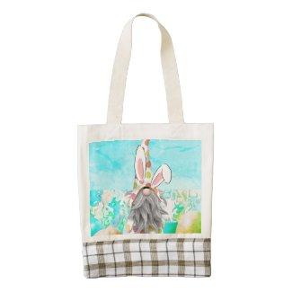 Bunny Gnome Zazzle HEART Tote Bag
